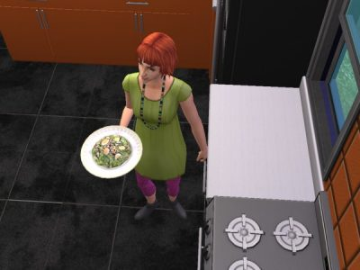 Sims2 お料理教室。